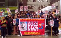 101st Monthly picket action to free the Cuban 5 outside the U.S. Consulate, Vancouver Canada